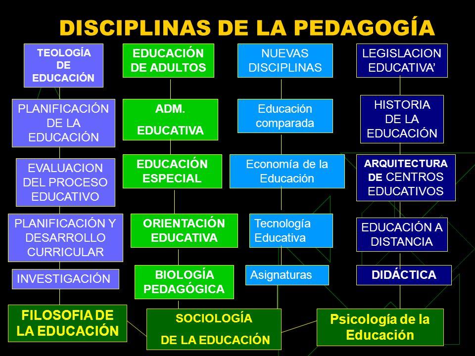 DISCIPLINAS DE LA PEDAGOGÍA