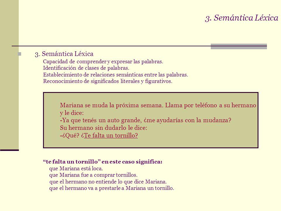 3. Semántica Léxica 3. Semántica Léxica