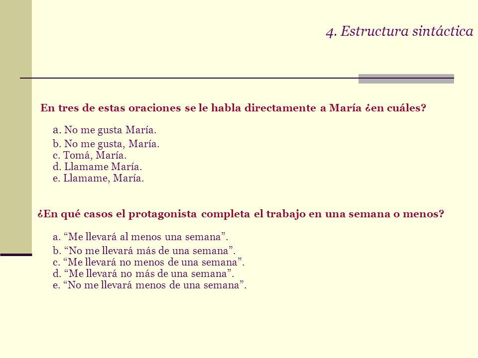 4. Estructura sintáctica