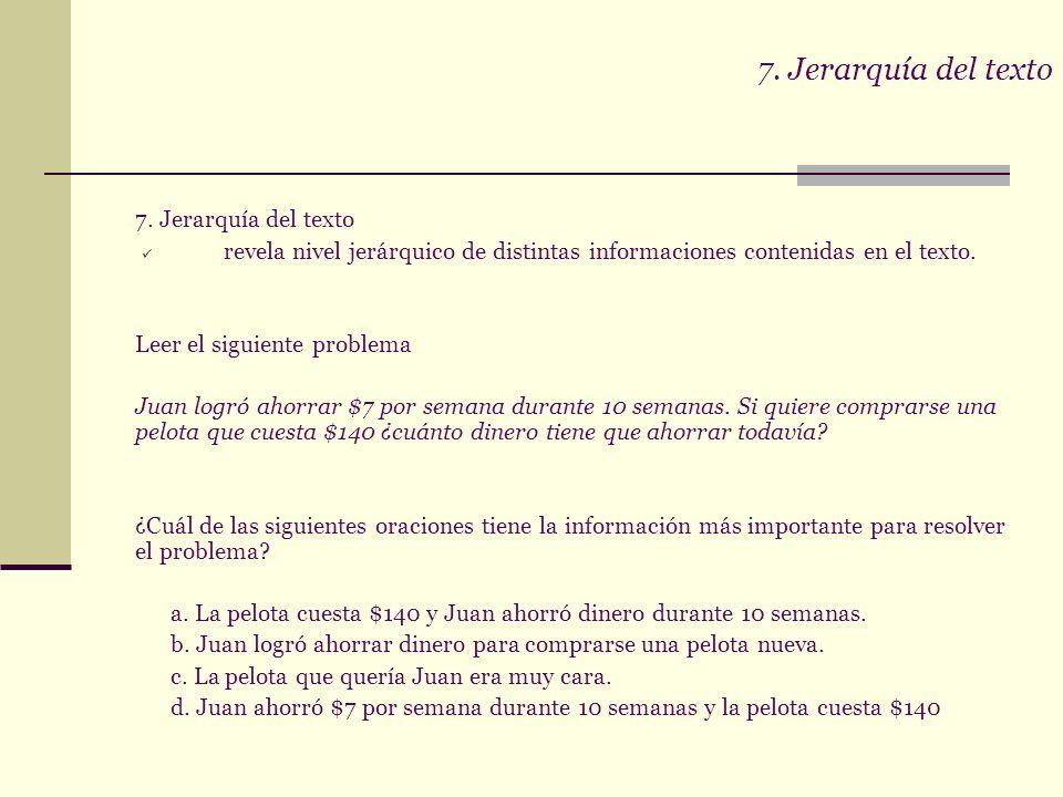 7. Jerarquía del texto 7. Jerarquía del texto