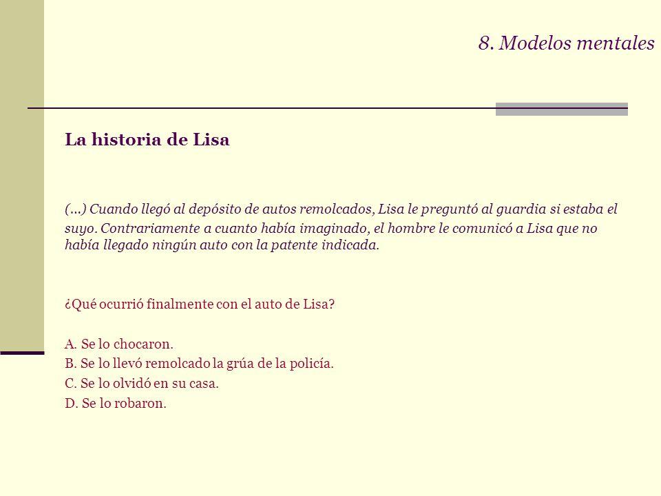 8. Modelos mentales La historia de Lisa.