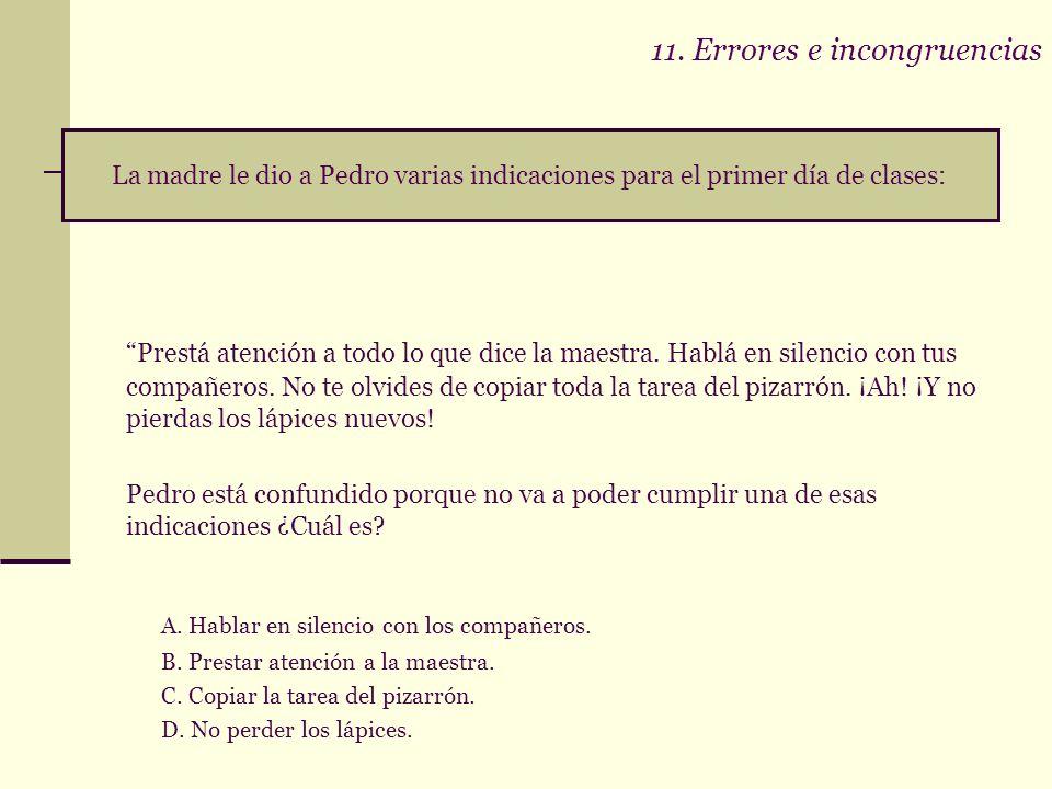 11. Errores e incongruencias