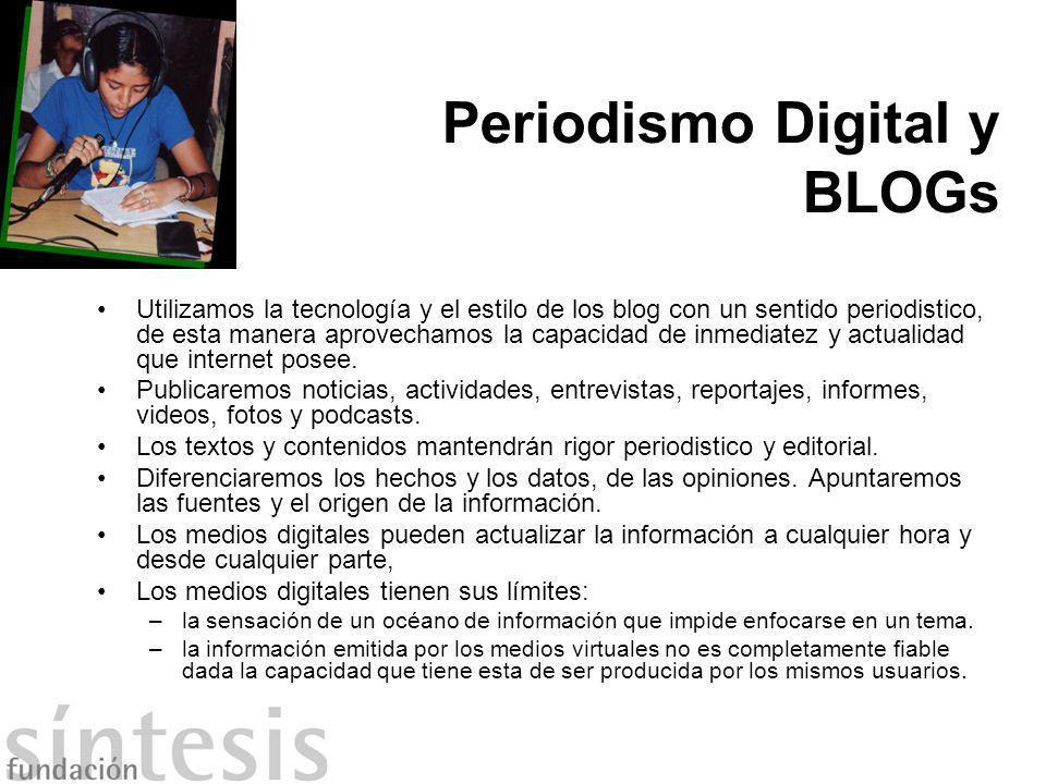 Periodismo Digital y BLOGs