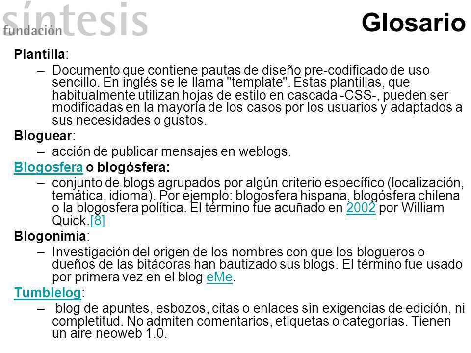 Glosario Plantilla: