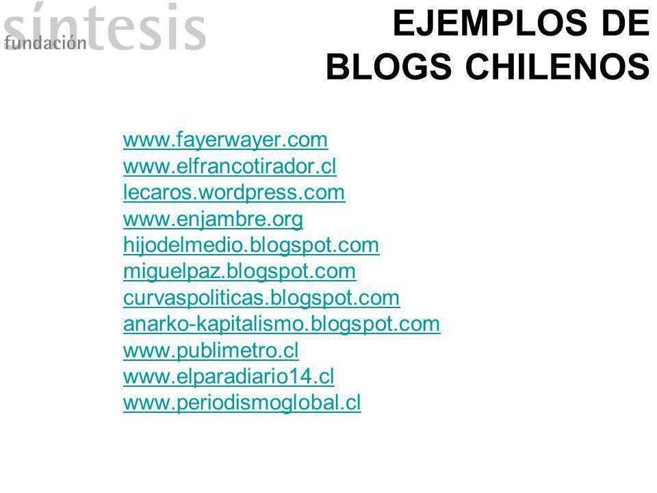 EJEMPLOS DE BLOGS CHILENOS