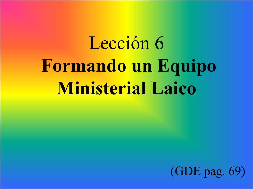 Formando un Equipo Ministerial Laico