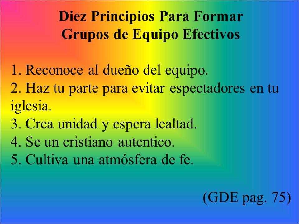 Diez Principios Para Formar Grupos de Equipo Efectivos