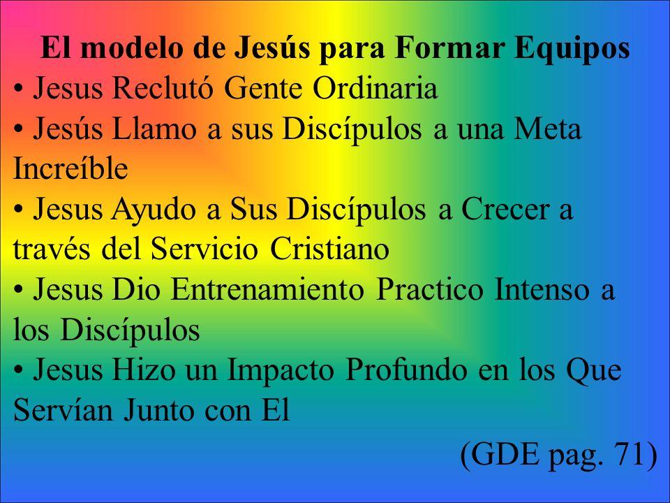 El modelo de Jesús para Formar Equipos
