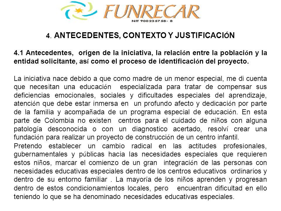 4. ANTECEDENTES, CONTEXTO Y JUSTIFICACIÓN