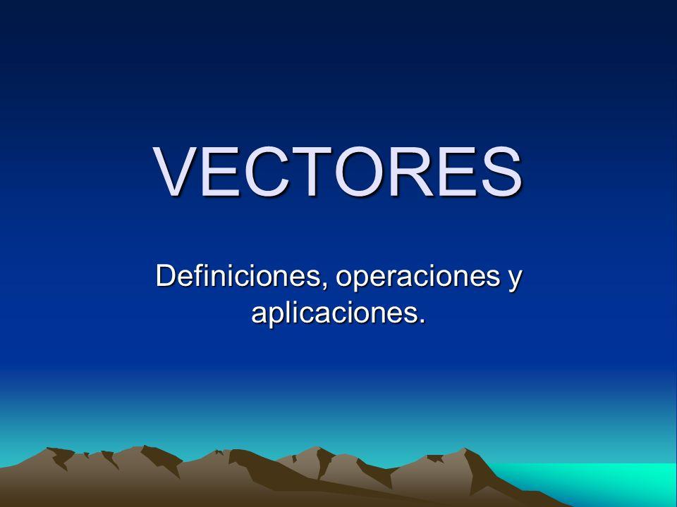 Definiciones, operaciones y aplicaciones.