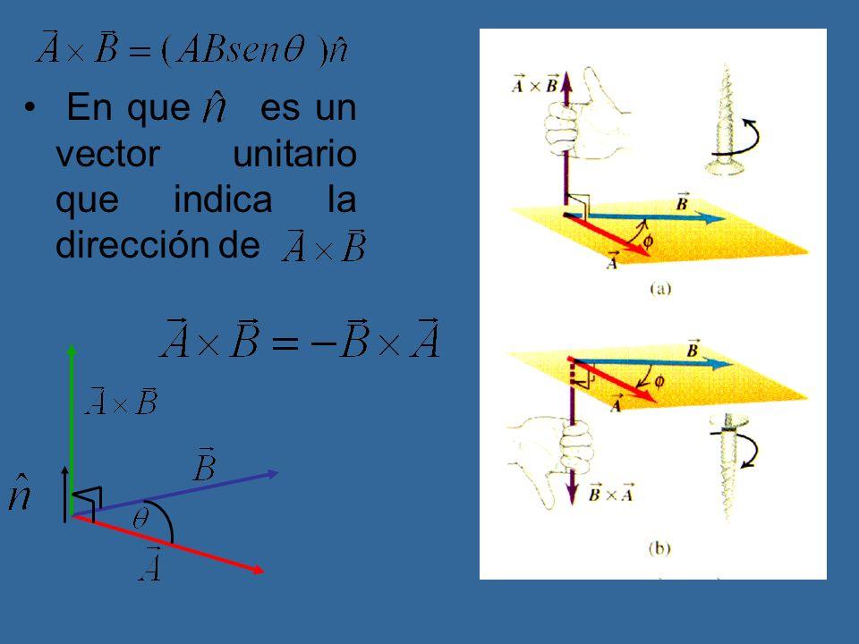 En que es un vector unitario que indica la dirección de