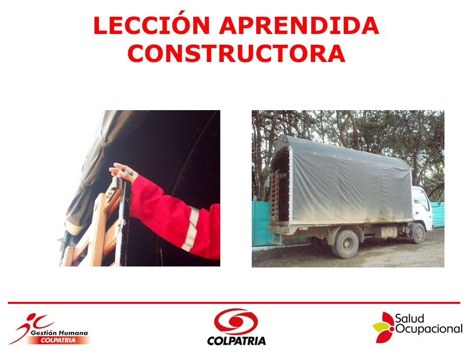 LECCIÓN APRENDIDA CONSTRUCTORA