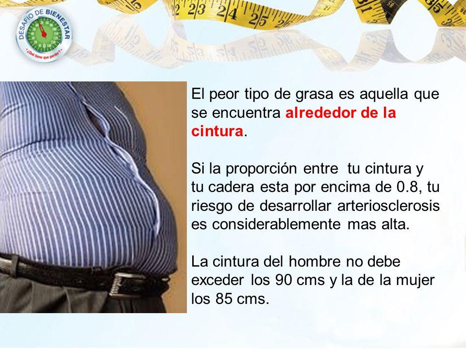 El peor tipo de grasa es aquella que se encuentra alrededor de la cintura.