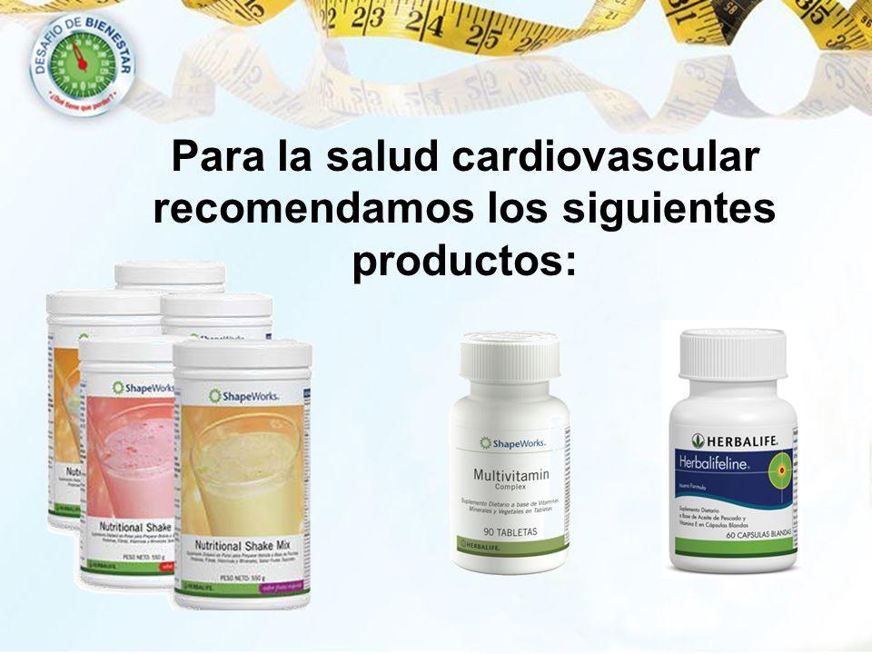Para la salud cardiovascular recomendamos los siguientes productos: