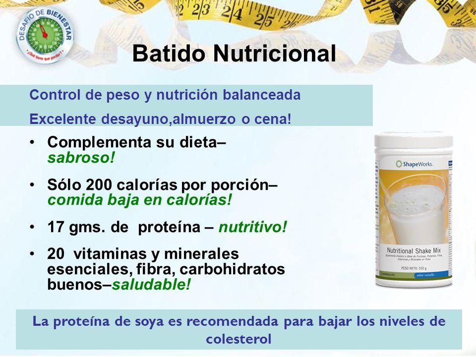 Batido Nutricional Complementa su dieta– sabroso!