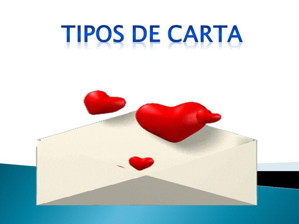 TIPOS DE CARTA