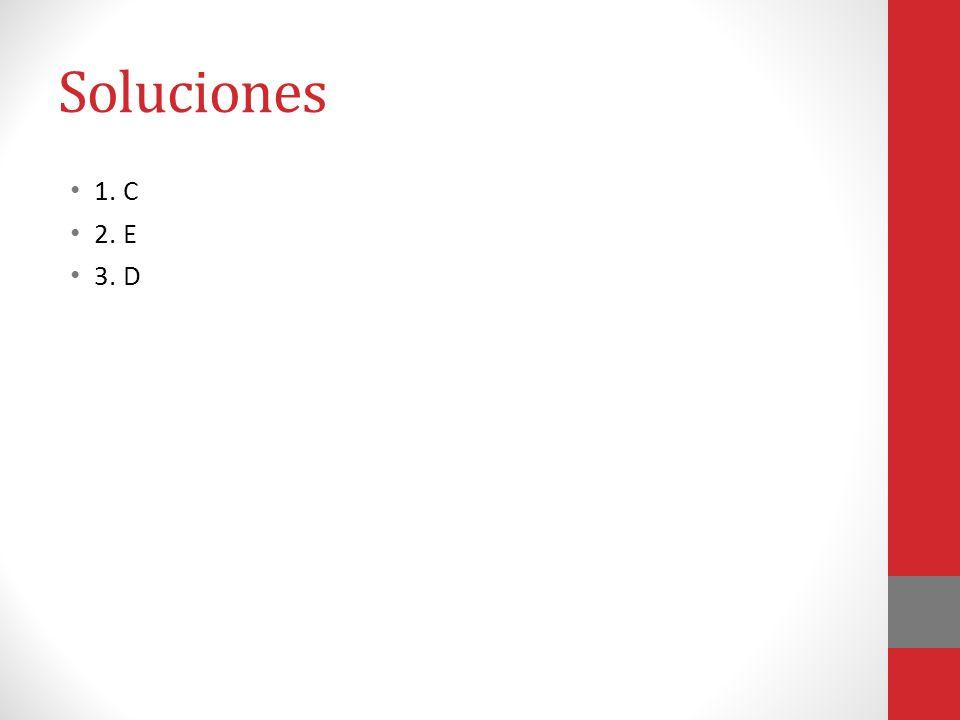 Soluciones 1. C 2. E 3. D