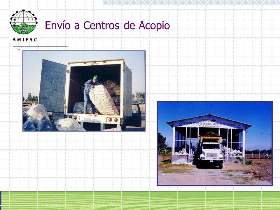 Envío a Centros de Acopio