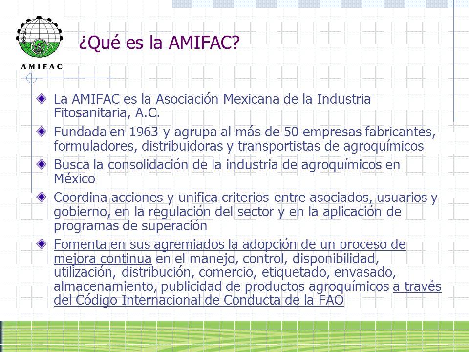 ¿Qué es la AMIFAC La AMIFAC es la Asociación Mexicana de la Industria Fitosanitaria, A.C.