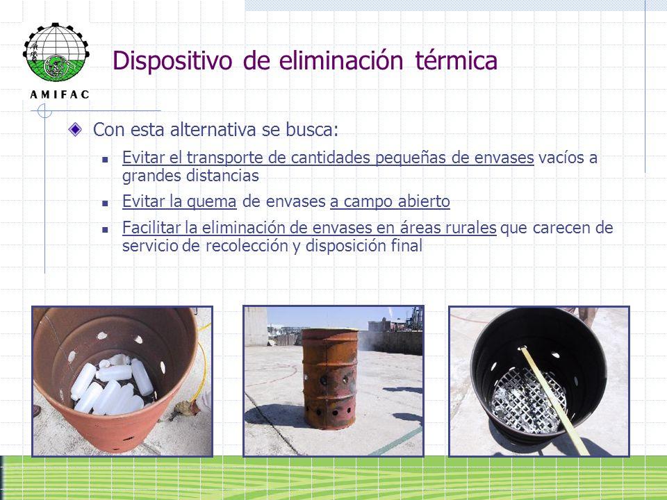 Dispositivo de eliminación térmica