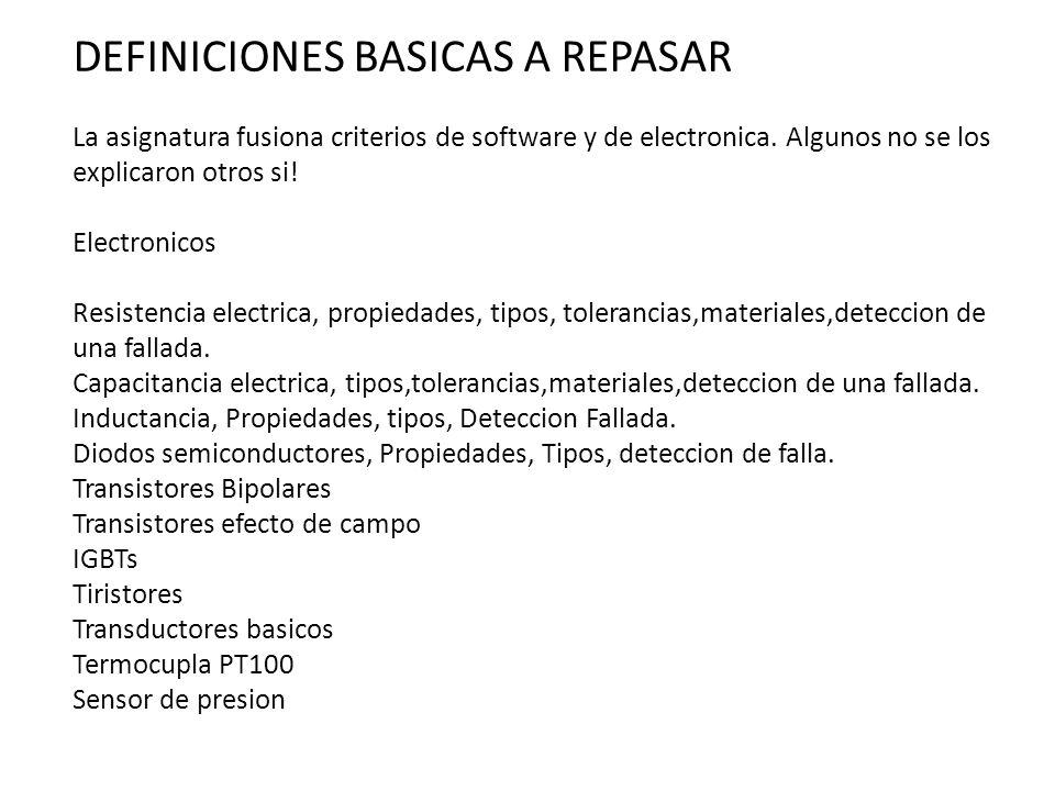 DEFINICIONES BASICAS A REPASAR