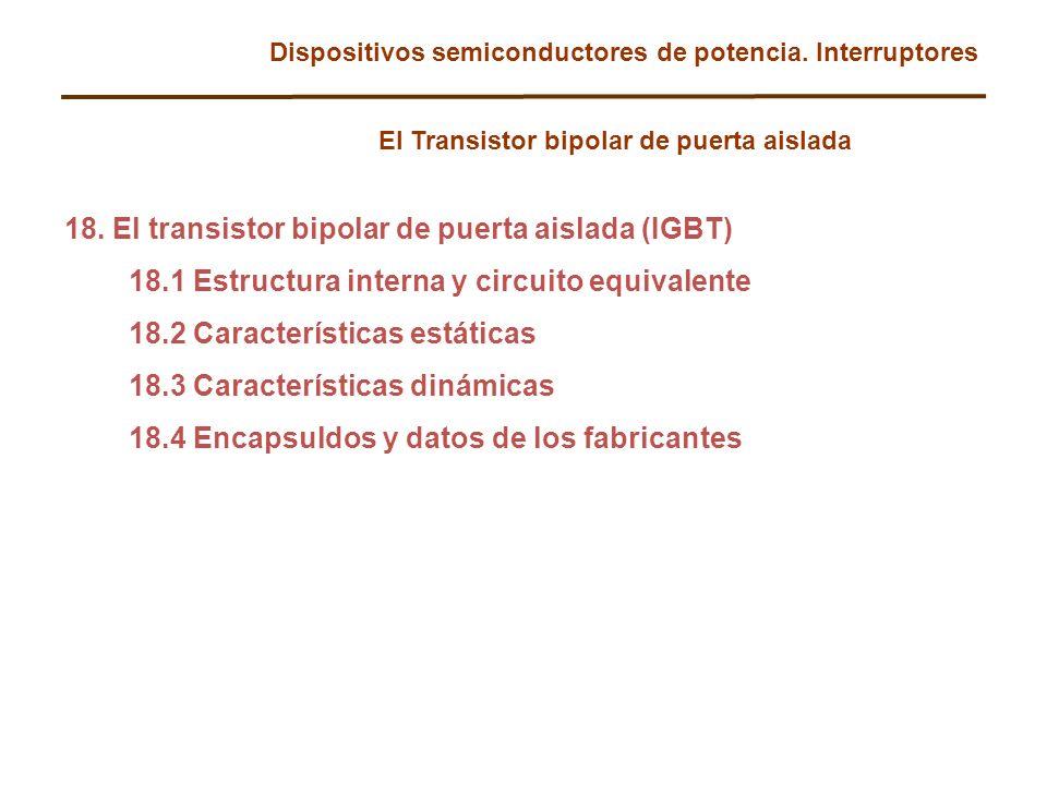 18. El transistor bipolar de puerta aislada (IGBT)
