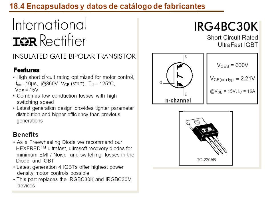 18.4 Encapsulados y datos de catálogo de fabricantes