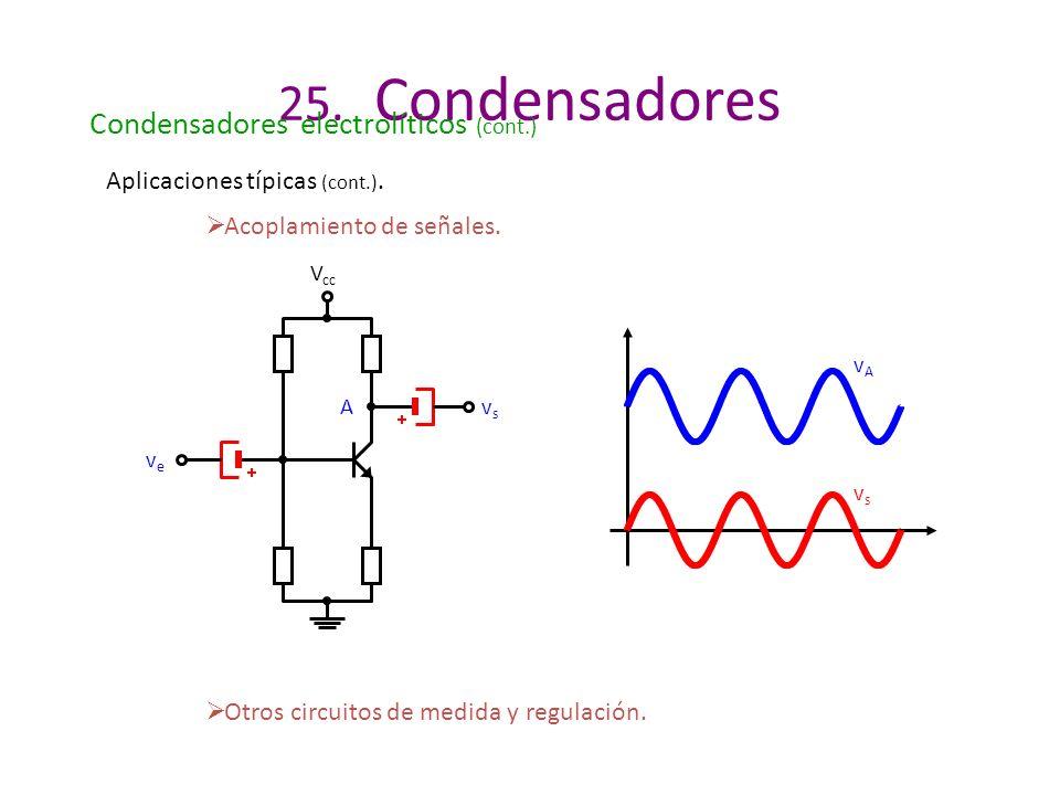 25. Condensadores Condensadores electrolíticos (cont.)