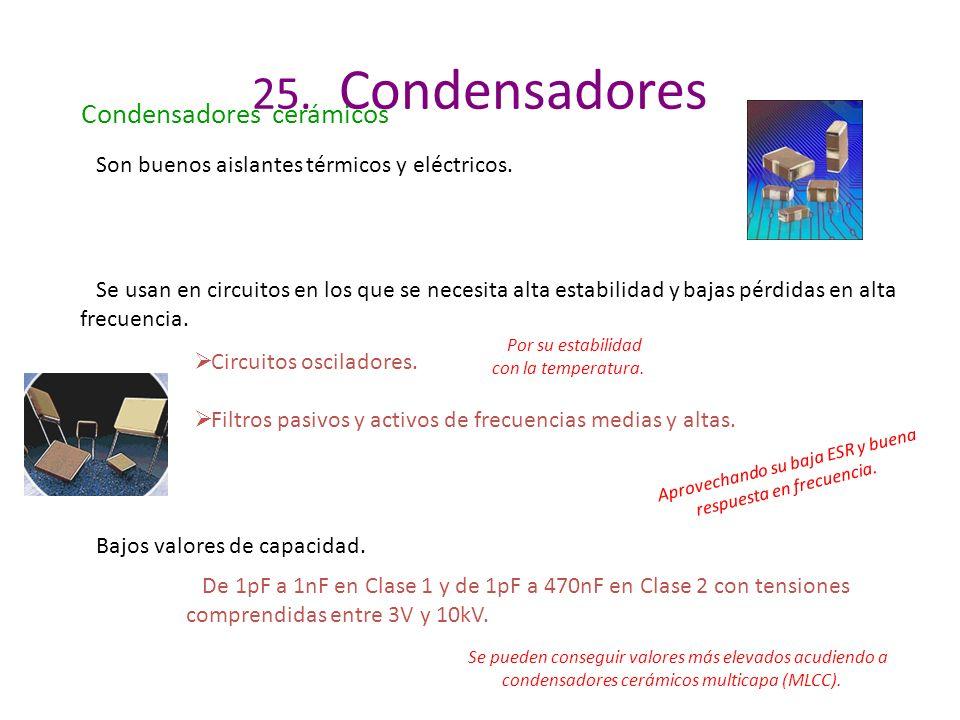 25. Condensadores Condensadores cerámicos