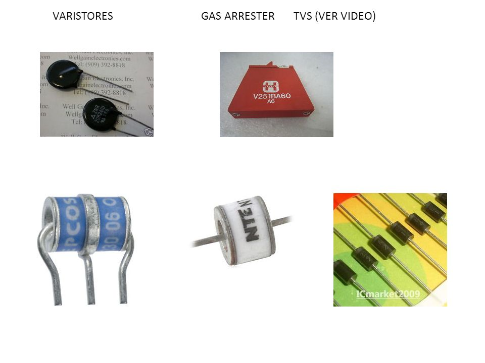 VARISTORES GAS ARRESTER TVS (VER VIDEO)