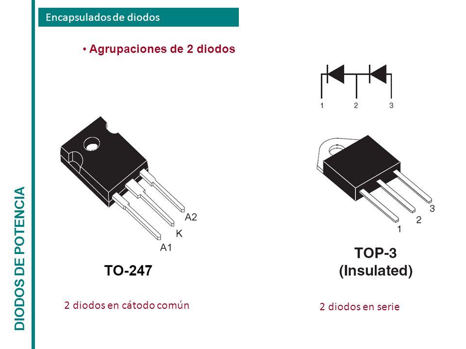 DIODOS DE POTENCIA Encapsulados de diodos Agrupaciones de 2 diodos
