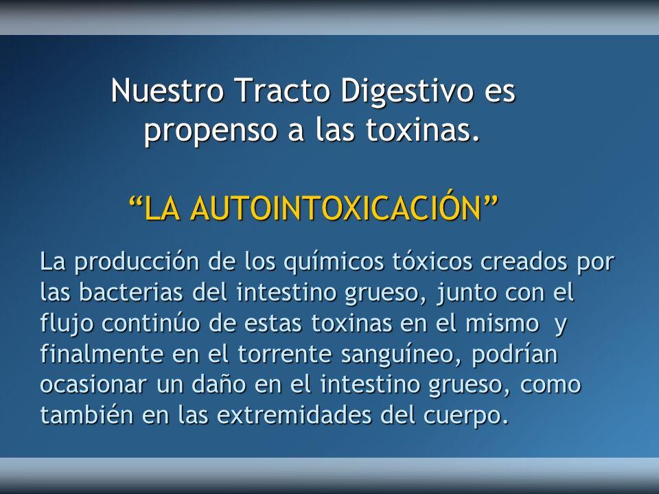 Nuestro Tracto Digestivo es propenso a las toxinas