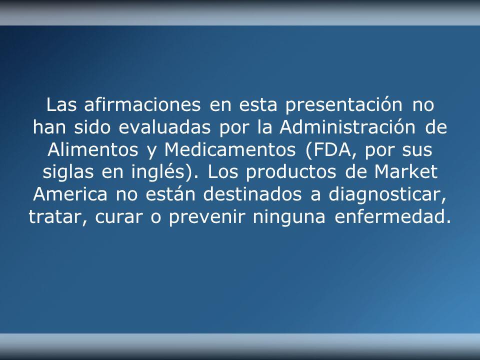 Las afirmaciones en esta presentación no han sido evaluadas por la Administración de Alimentos y Medicamentos (FDA, por sus siglas en inglés).