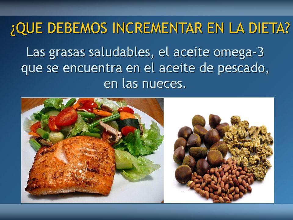 ¿QUE DEBEMOS INCREMENTAR EN LA DIETA