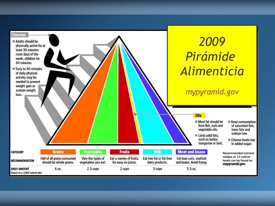 2009 Pirámide Alimenticia mypyramid.gov