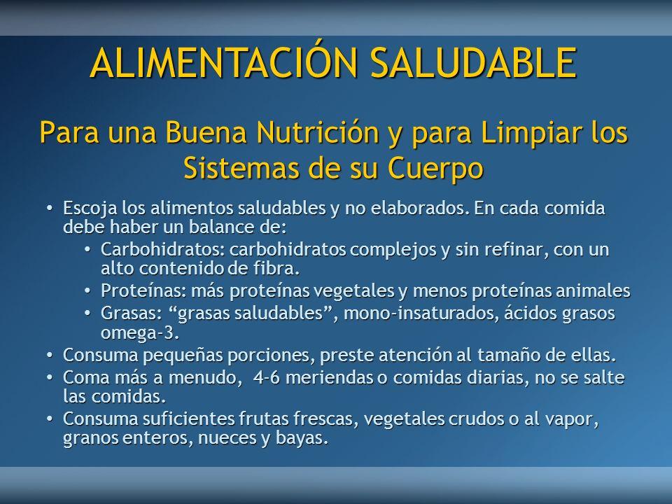 Para una Buena Nutrición y para Limpiar los Sistemas de su Cuerpo