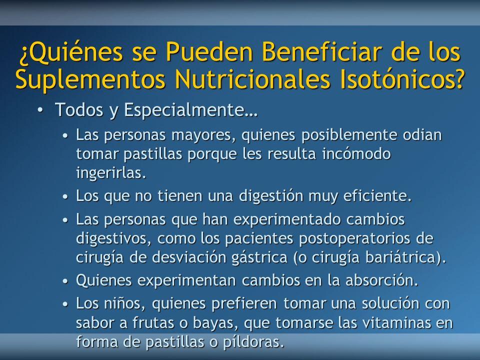 ¿Quiénes se Pueden Beneficiar de los Suplementos Nutricionales Isotónicos