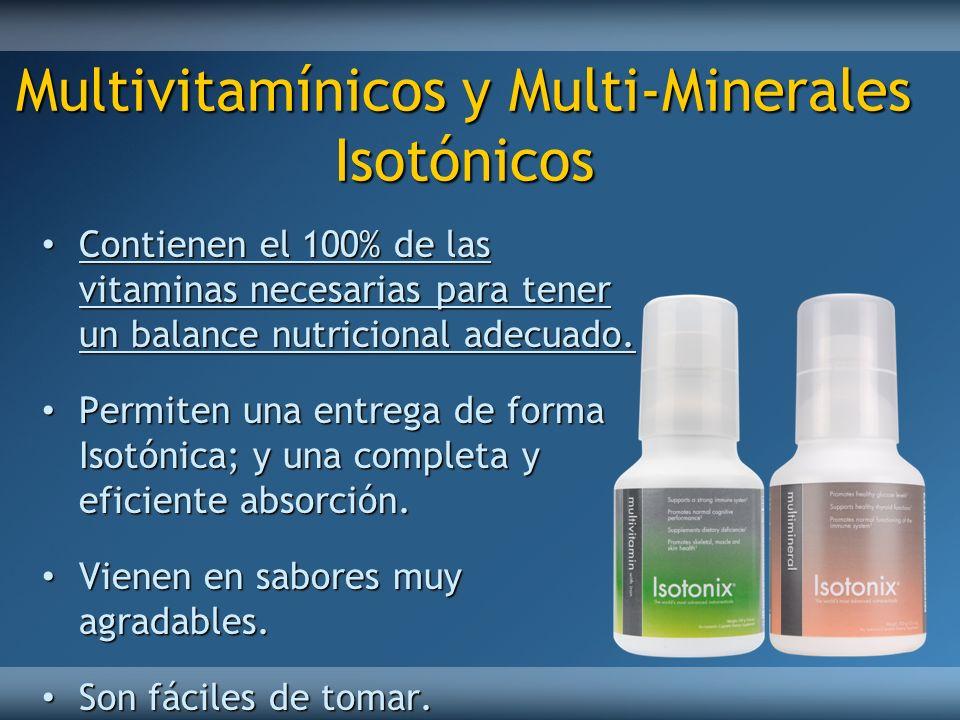 Multivitamínicos y Multi-Minerales Isotónicos