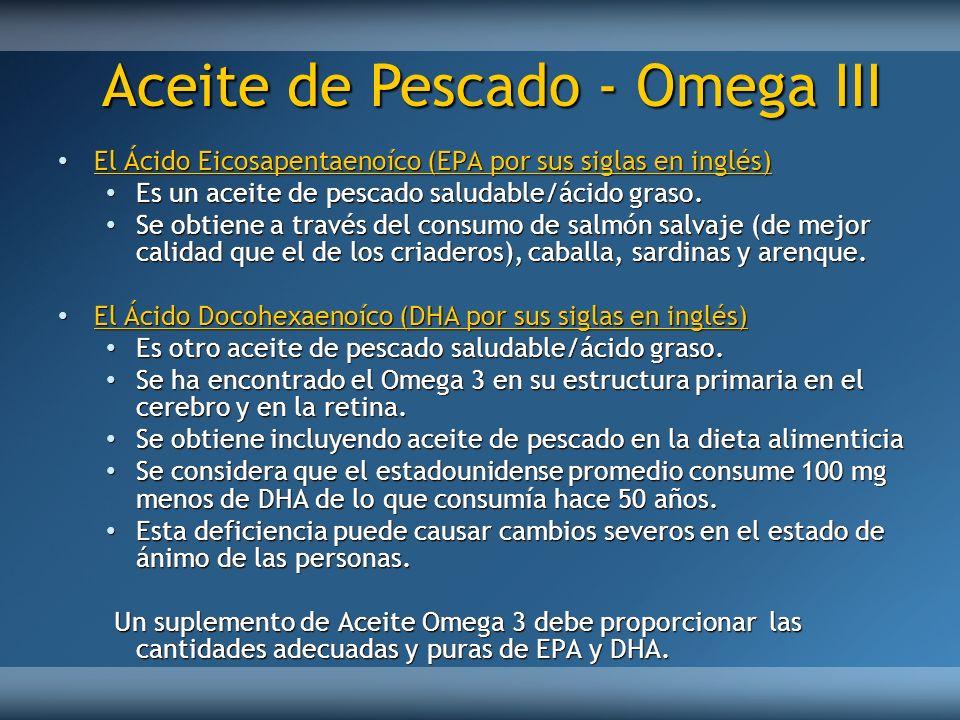 Aceite de Pescado - Omega III