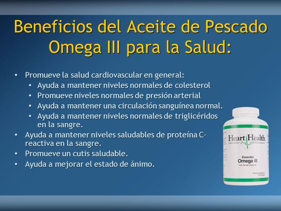 Beneficios del Aceite de Pescado Omega III para la Salud: