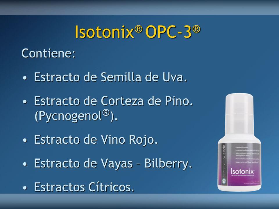 Isotonix® OPC-3® Contiene: Estracto de Semilla de Uva.