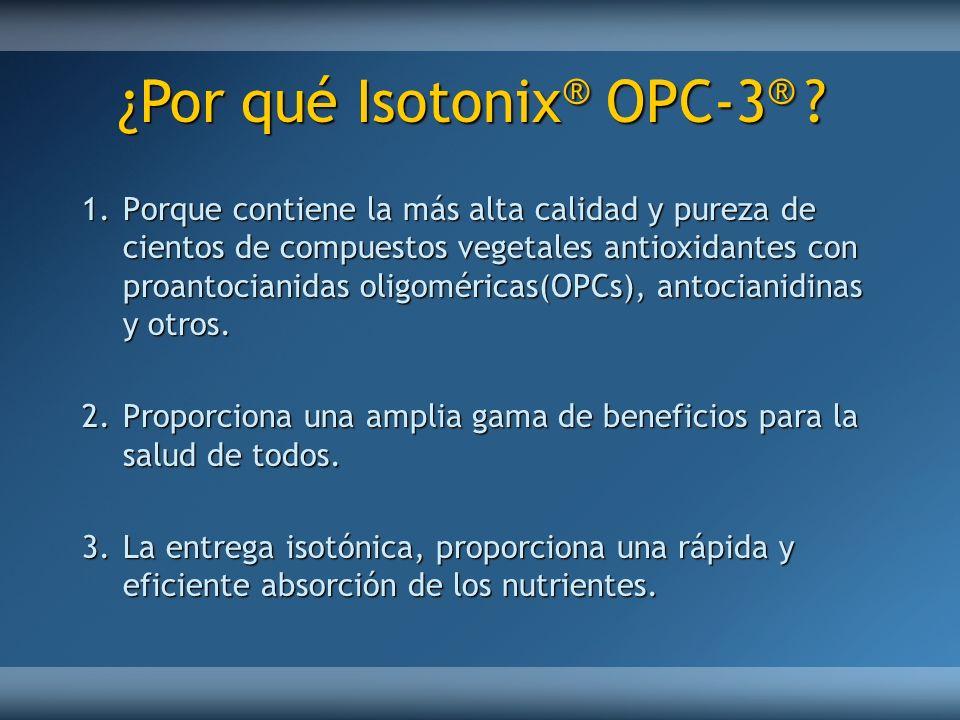 ¿Por qué Isotonix® OPC-3®