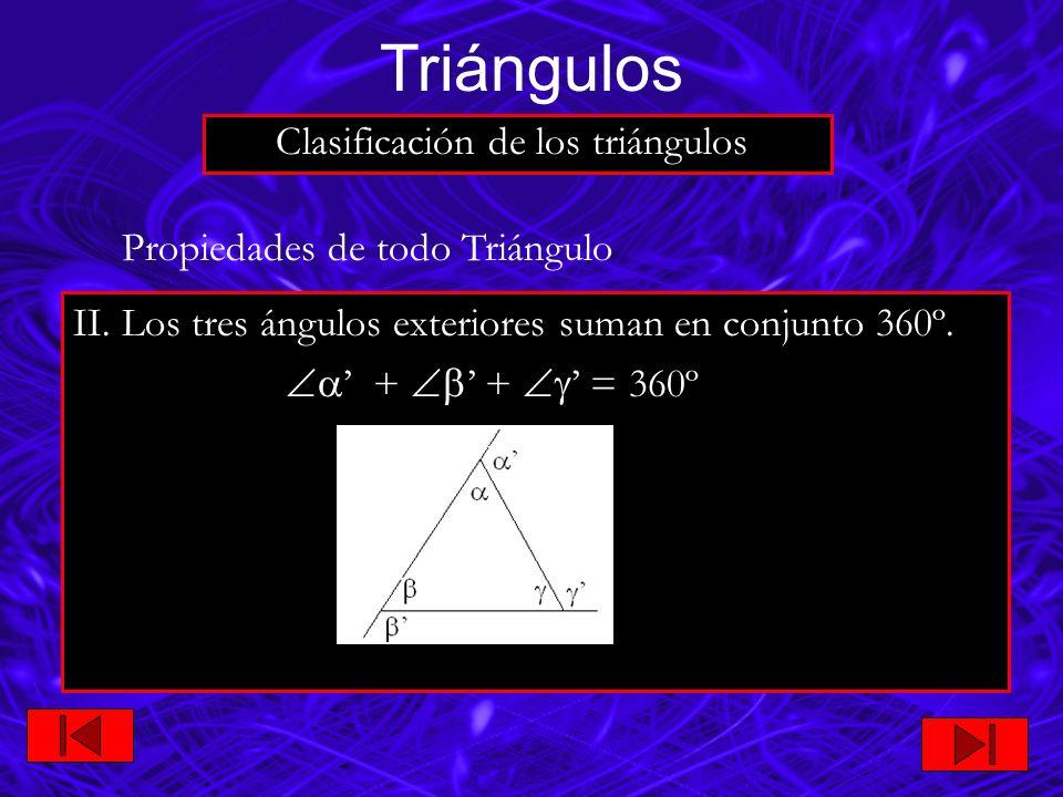 Triángulos Clasificación de los triángulos