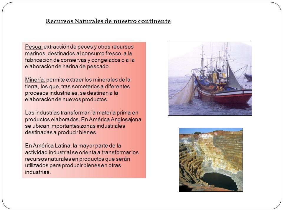 Recursos Naturales de nuestro continente