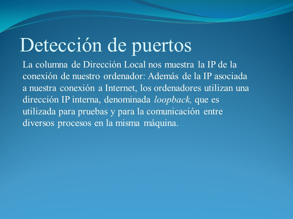 Detección de puertos