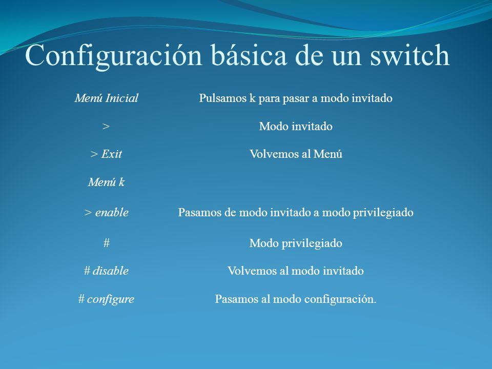 Configuración básica de un switch