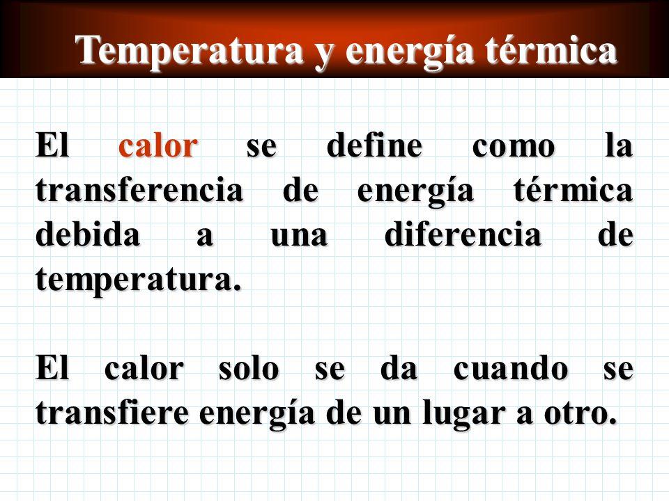 Temperatura y energía térmica