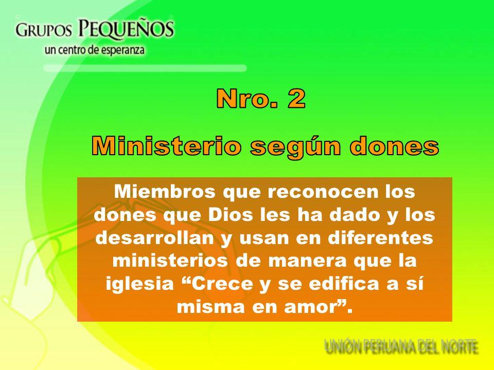 Ministerio según dones
