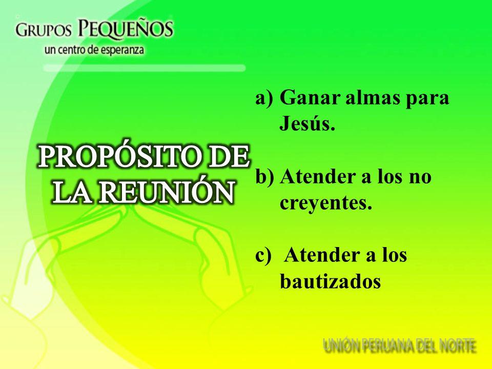 PROPÓSITO DE LA REUNIÓN