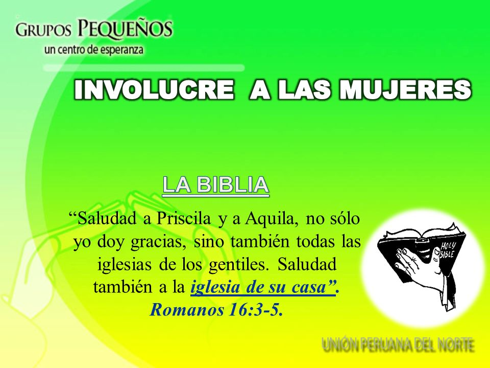 INVOLUCRE A LAS MUJERES